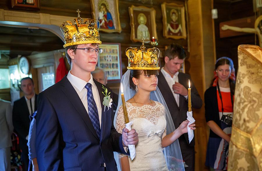 Венчание в храме святой Матроны Московской
