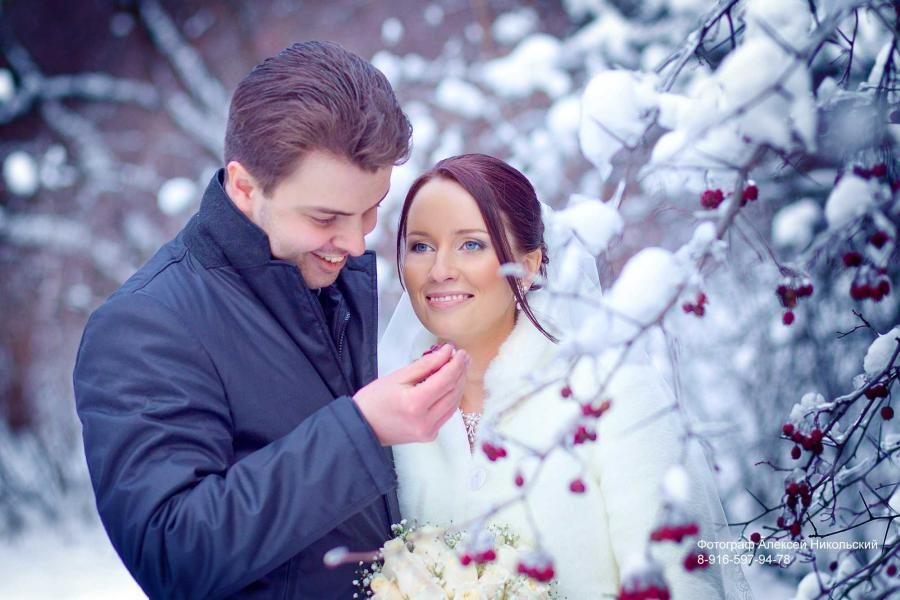 Зимняя свадебная фотосесия