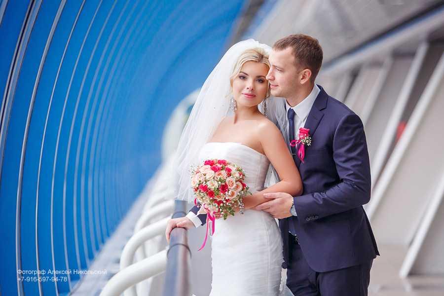 """Свадебная фотосессия на мосту """"Багратион"""", рядом с """"Москва-Сити"""""""
