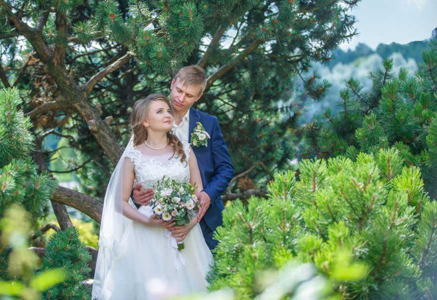свадебные фото в ботаническом саду