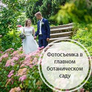 Свадебная фотосъемка в Ботаническом саду ( м. Владыкино)