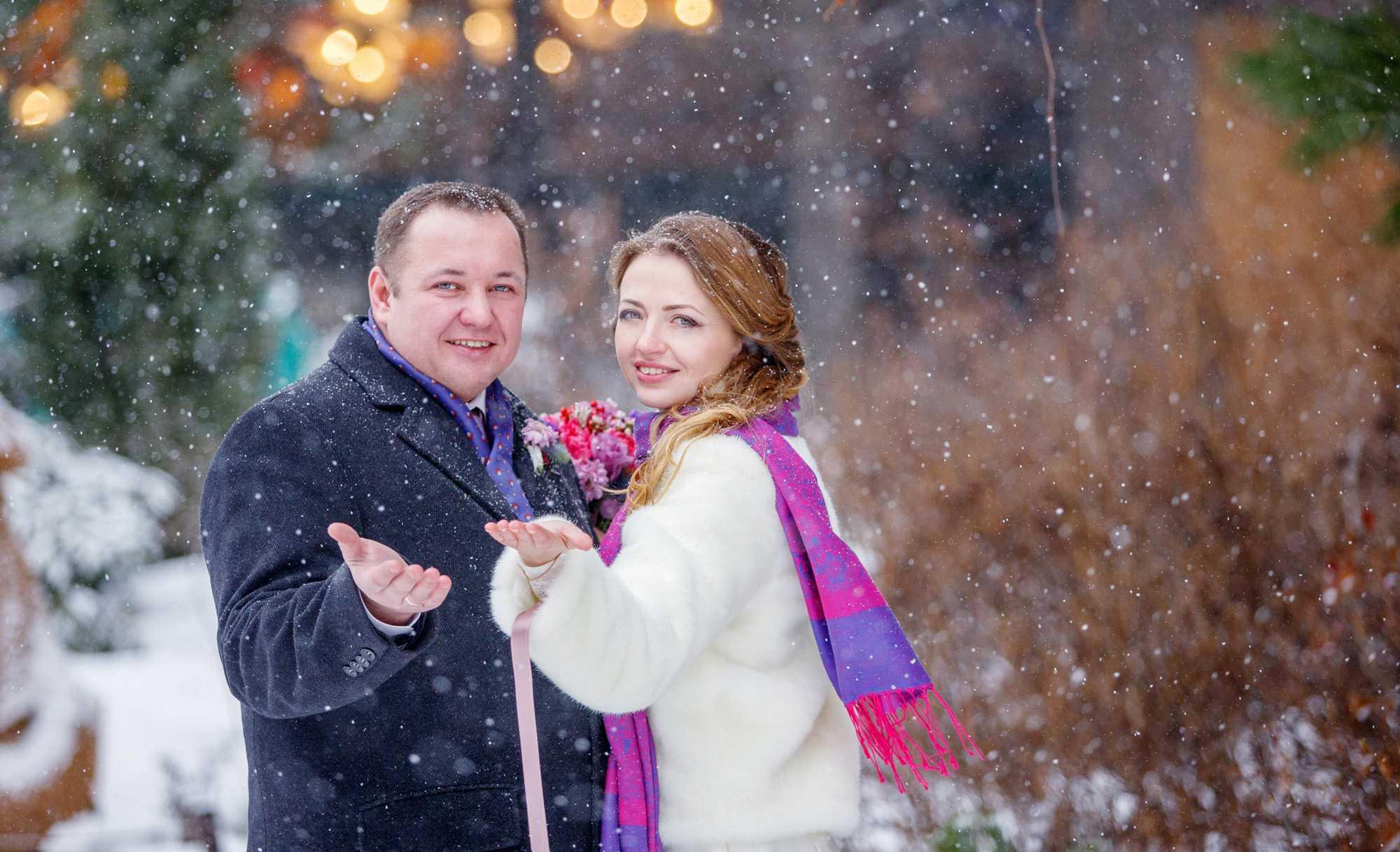 Свадьба зимой | фотограф на свадьбу зимой
