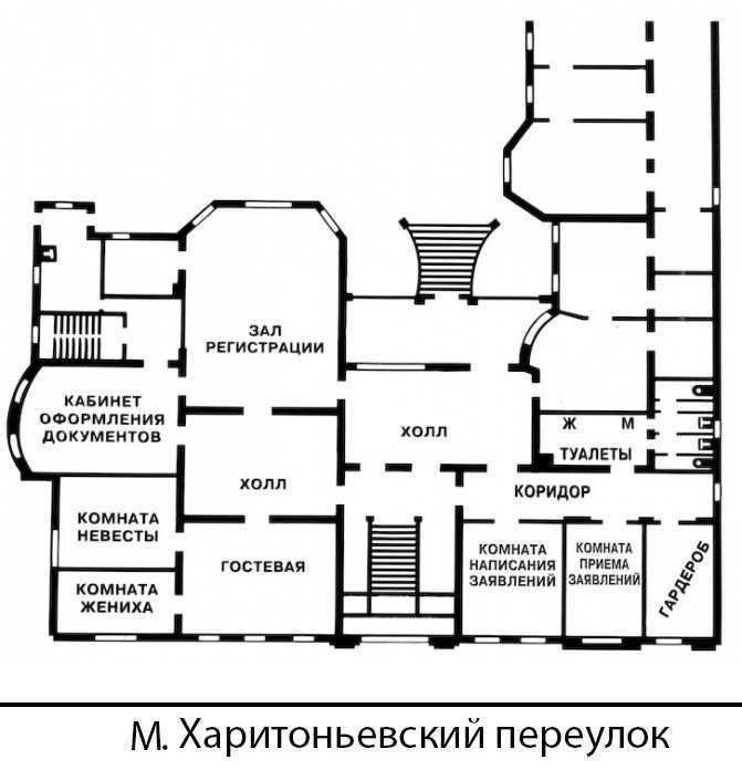 1 дворец бракосочетания. План