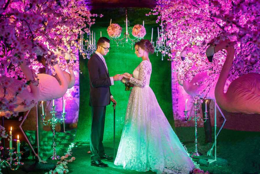 свадьба зимой в лофте