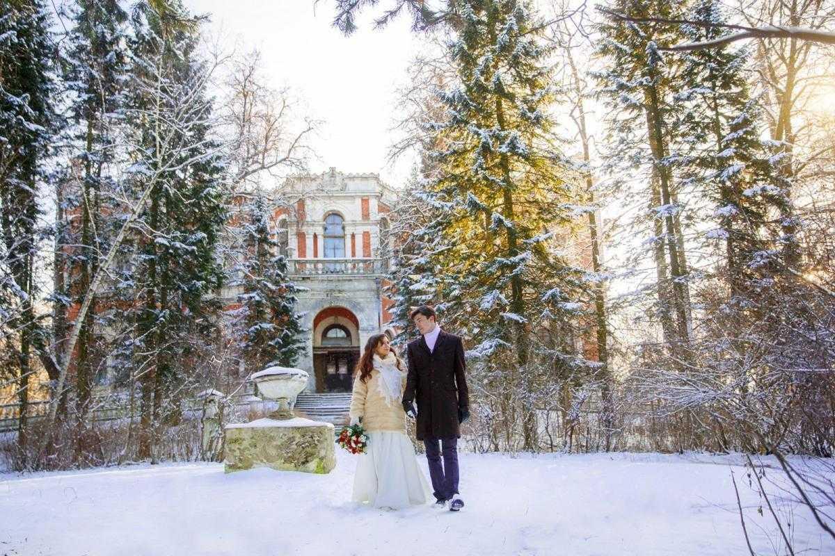 оригинален места в иваново зимой для свадебной фотосессии литографии