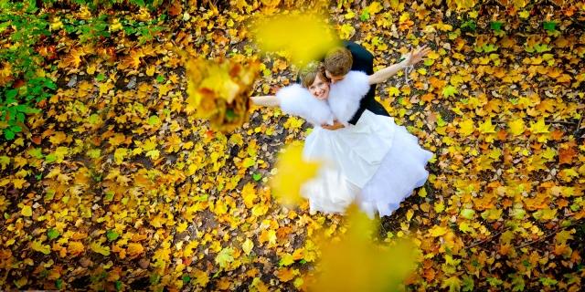 Осень свадебные фото в в Москве