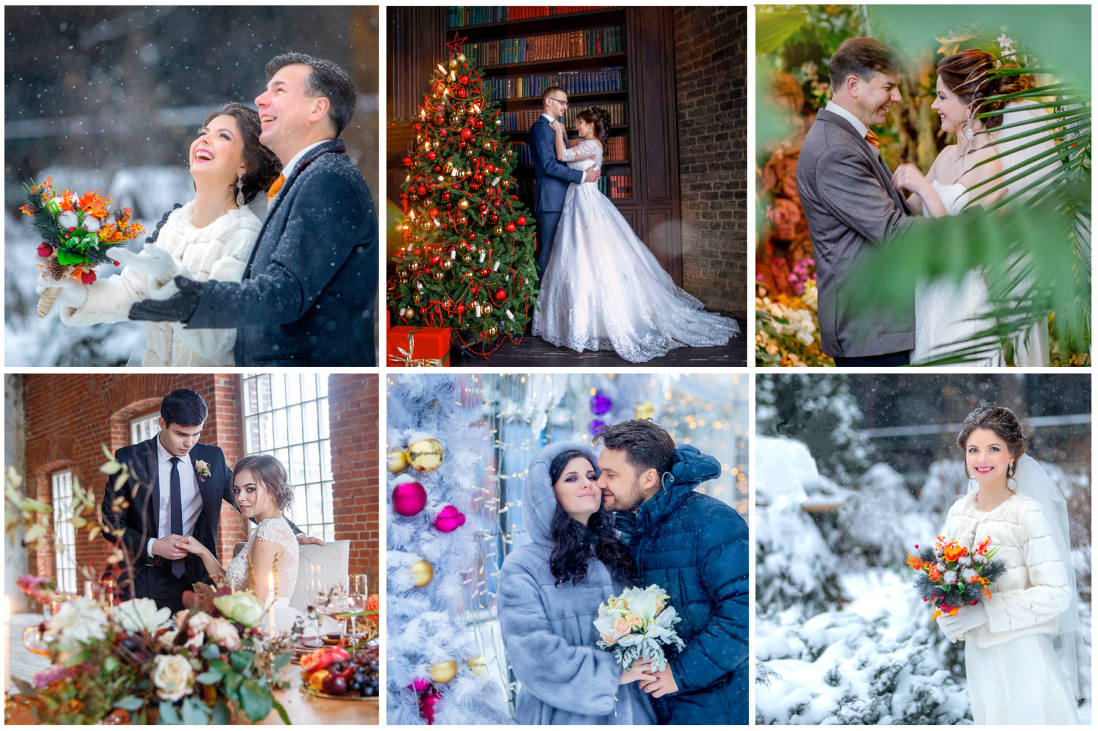 Свадебная фотосъемка и свадьба зимой