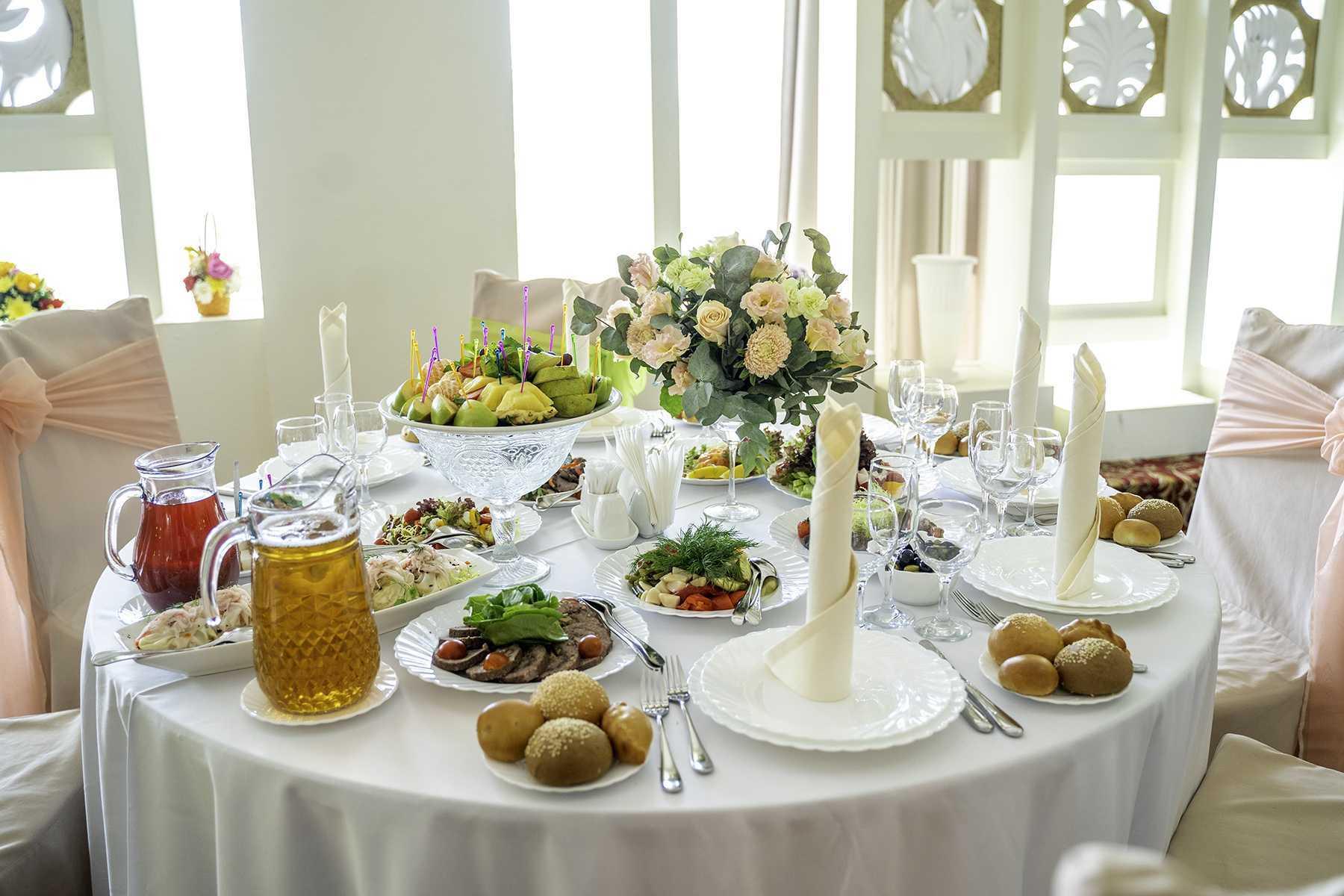 Как расчитать свадебное меню