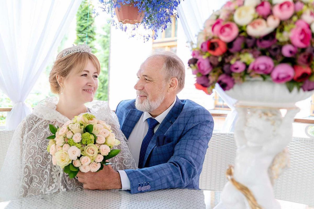 свадьба в возрасте 50+
